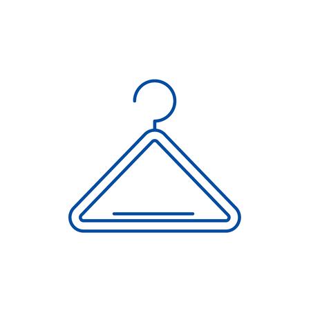 Wardrobe hangers line concept icon. Wardrobe hangers flat  vector website sign, outline symbol, illustration.
