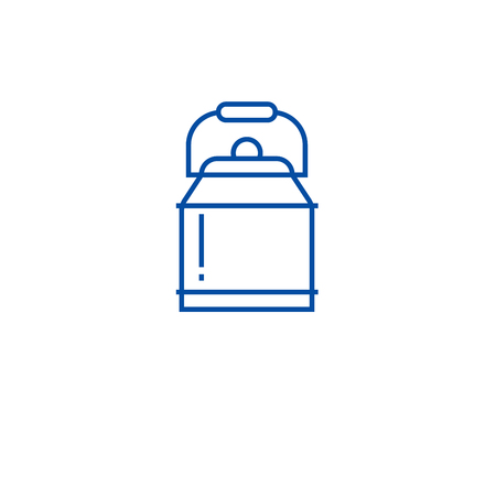 Water can line concept icon. Water can flat  vector website sign, outline symbol, illustration.