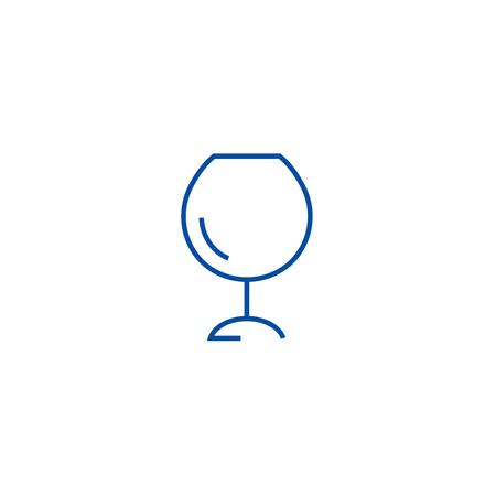 Wine glasses,alcochol  line concept icon. Wine glasses,alcochol  flat  vector website sign, outline symbol, illustration.