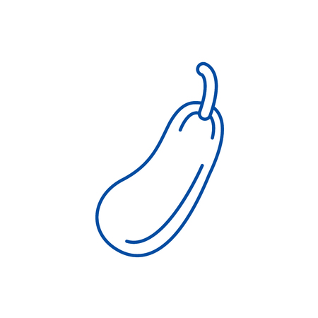 Zucchini line concept icon. Zucchini flat  vector website sign, outline symbol, illustration. Zdjęcie Seryjne - 120054648