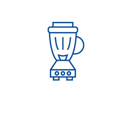 Kitchen blender(2) line concept icon. Kitchen blender(2) flat  vector website sign, outline symbol, illustration.