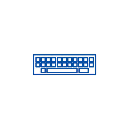 Keyboard line concept icon. Keyboard flat  vector website sign, outline symbol, illustration.