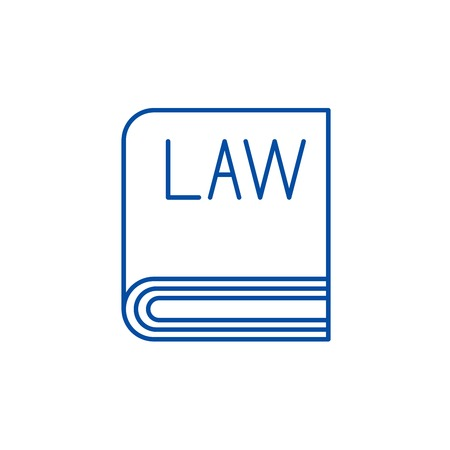 Law line concept icon. Law flat  vector website sign, outline symbol, illustration. 向量圖像