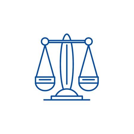 Libra, the zodiac sign line concept icon. Libra, the zodiac sign flat  vector website sign, outline symbol, illustration.