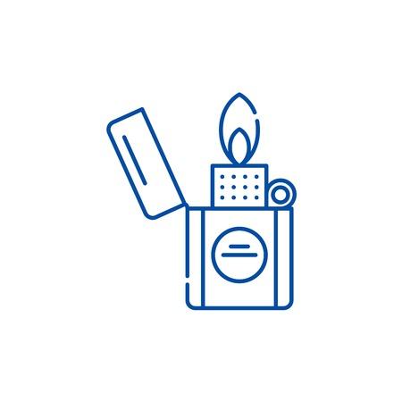 Icône de concept de ligne plus légère. Signe de site Web vecteur plat plus léger, symbole du contour, illustration.