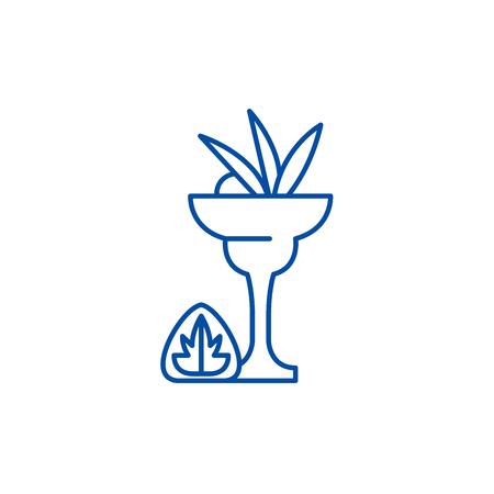 Liquor line concept icon. Liquor flat  vector website sign, outline symbol, illustration.
