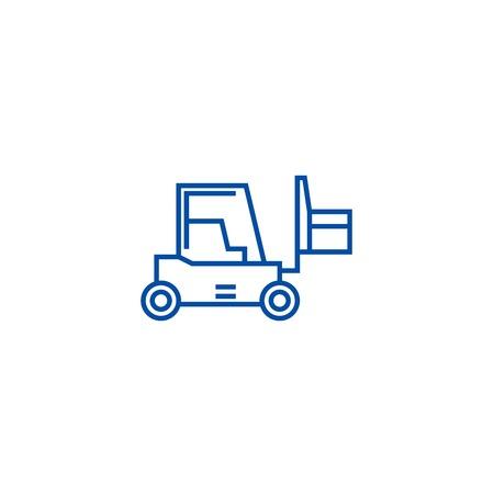 Loader sign line concept icon. Loader sign flat  vector website sign, outline symbol, illustration. Illustration