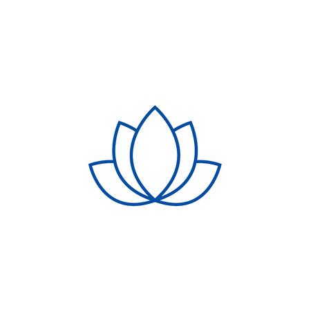 Lotus,india line concept icon. Lotus,india flat  vector website sign, outline symbol, illustration. Ilustrace
