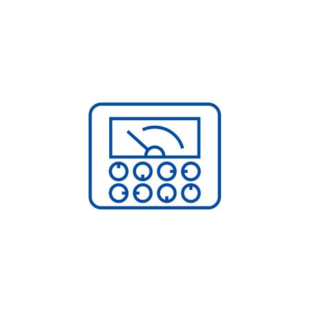 Measurable indicators,gauge line concept icon. Measurable indicators,gauge flat  vector website sign, outline symbol, illustration. Stockfoto - 120186259