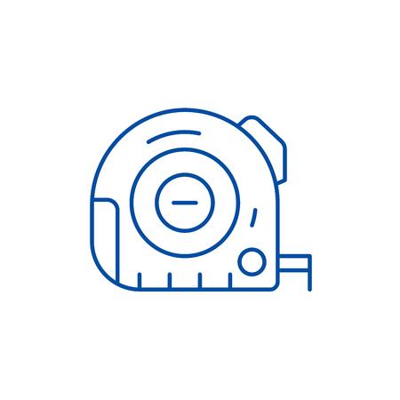 Measurement line concept icon. Measurement flat  vector website sign, outline symbol, illustration.