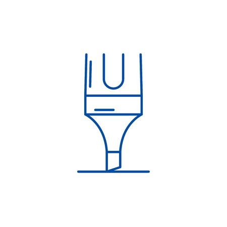 Marker line concept icon. Marker flat  vector website sign, outline symbol, illustration.