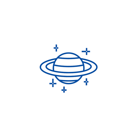 Mars,planet line concept icon. Mars,planet flat  vector website sign, outline symbol, illustration.