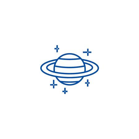 Mars,planet line concept icon. Mars,planet flat  vector website sign, outline symbol, illustration.