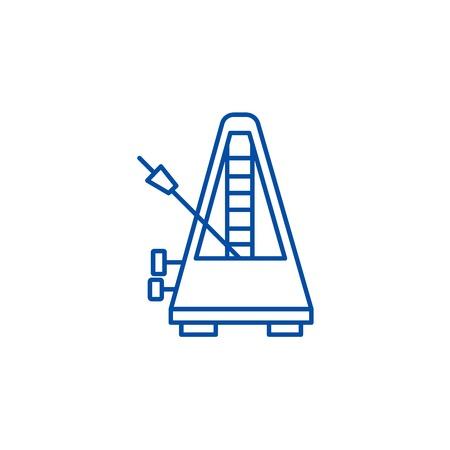 Metronome line concept icon. Metronome flat  vector website sign, outline symbol, illustration.
