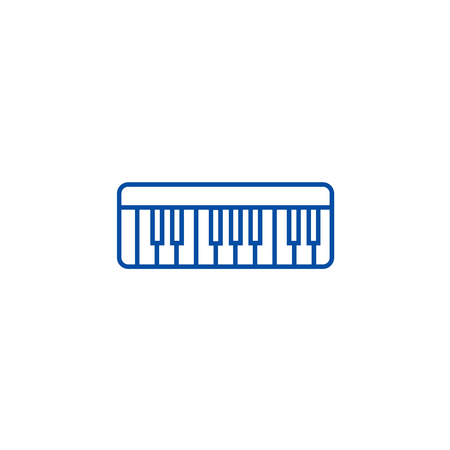 Modern synthesizer  line concept icon. Modern synthesizer  flat  vector website sign, outline symbol, illustration.