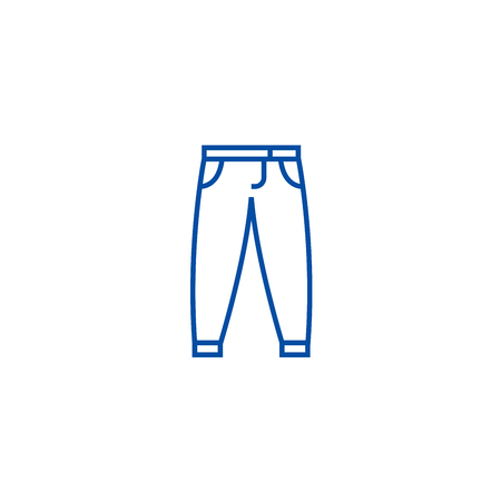 Pants,trousers line concept icon. Pants,trousers flat  vector website sign, outline symbol, illustration. Illustration