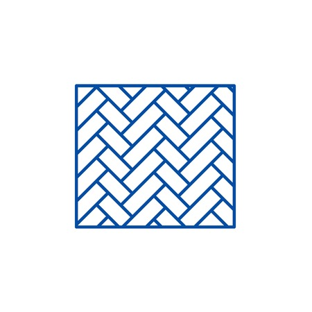 Parquet line concept icon. Parquet flat  vector website sign, outline symbol, illustration. 向量圖像