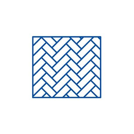 Parquet line concept icon. Parquet flat  vector website sign, outline symbol, illustration. Illustration