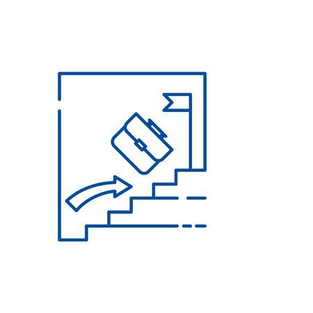 Passive investing line concept icon. Passive investing flat  vector website sign, outline symbol, illustration. Illustration