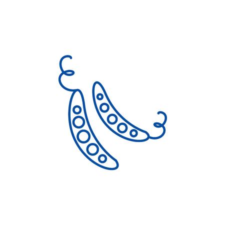 Peas line concept icon. Peas flat  vector website sign, outline symbol, illustration.
