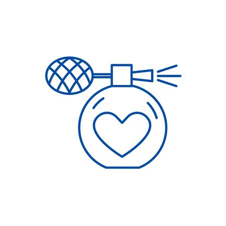 Perfumery line concept icon. Perfumery flat  vector website sign, outline symbol, illustration.