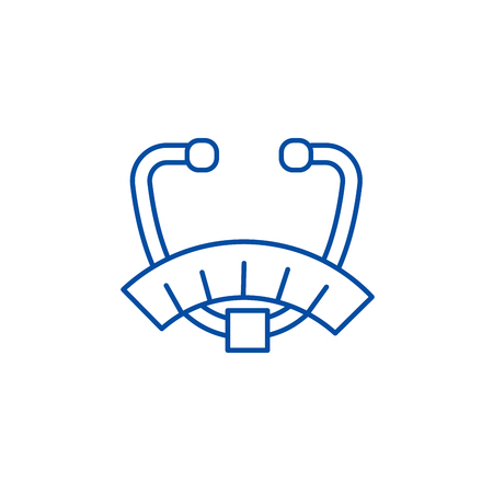 Fat analyser line concept icon. Fat analyser flat  vector website sign, outline symbol, illustration. Illustration