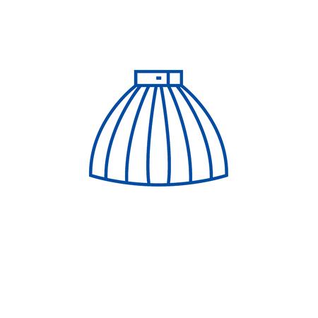 Fashion skirt line concept icon. Fashion skirt flat  vector website sign, outline symbol, illustration.
