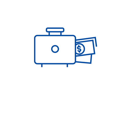 Financing available line concept icon. Financing available flat  vector website sign, outline symbol, illustration. Illusztráció