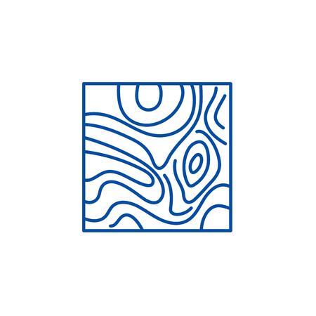 Floorboard line concept icon. Floorboard flat  vector website sign, outline symbol, illustration. 일러스트