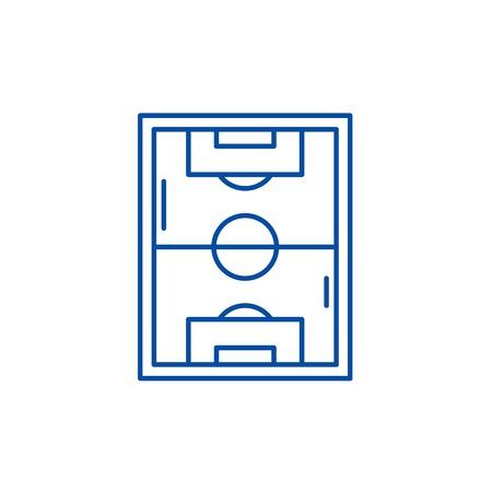 Football field line concept icon. Football field flat  vector website sign, outline symbol, illustration. Illustration
