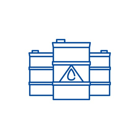 Fuel line concept icon. Fuel flat  vector website sign, outline symbol, illustration.