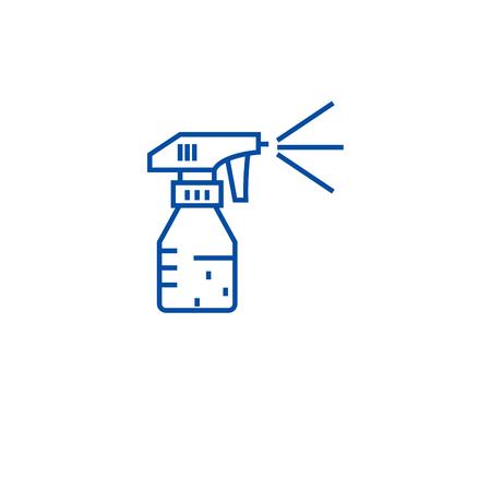 Gardening sprinkler line concept icon. Gardening sprinkler flat  vector website sign, outline symbol, illustration.