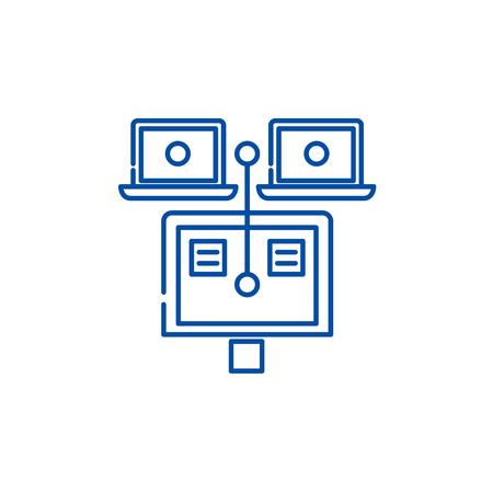General documents line concept icon. General documents flat  vector website sign, outline symbol, illustration.