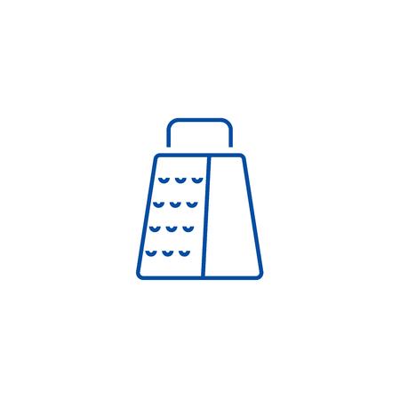 Grater line concept icon. Grater flat vector website sign, outline symbol, illustration.