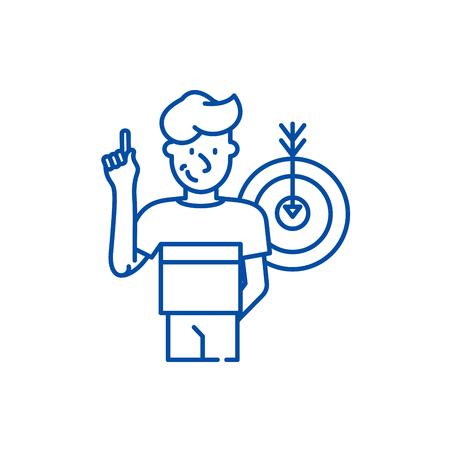 Great idea line concept icon. Great idea flat  vector website sign, outline symbol, illustration.