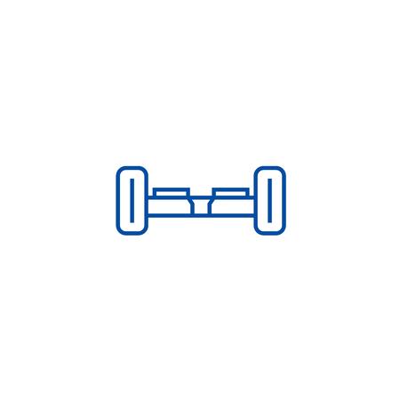 Gyroscooter line concept icon. Gyroscooter flat  vector website sign, outline symbol, illustration.