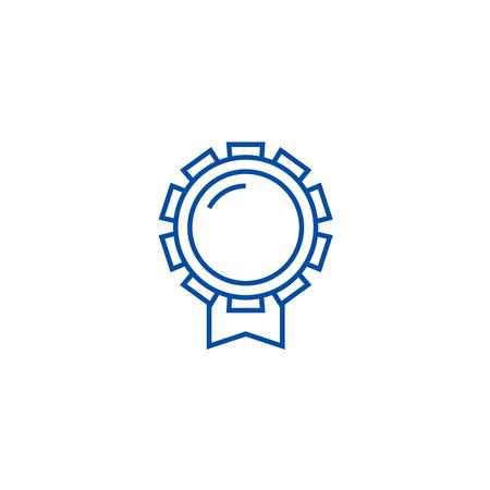 Good award line concept icon. Good award flat  vector website sign, outline symbol, illustration.