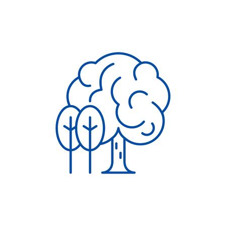 Grove line concept icon. Grove flat  vector website sign, outline symbol, illustration.