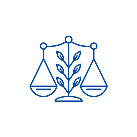 Growing law line concept icon. Growing law flat  vector website sign, outline symbol, illustration.