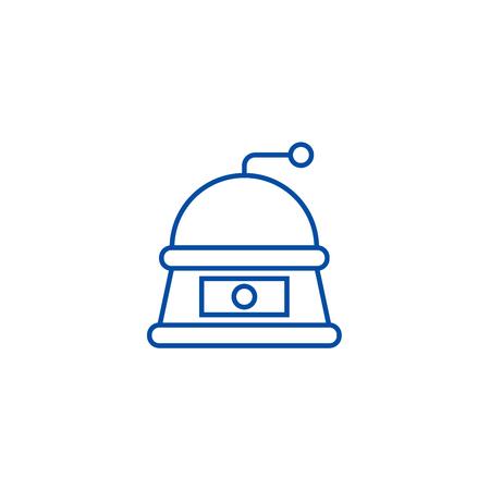Grinder line concept icon. Grinder flat  vector website sign, outline symbol, illustration. Stock Illustratie