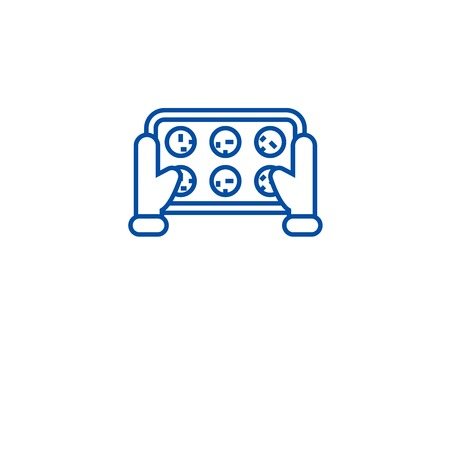 Hausgemachte Kekse Symbol Leitung Konzept. Hausgemachte Kekse flaches Vektor-Website-Zeichen, Umrisssymbol, Illustration. Vektorgrafik