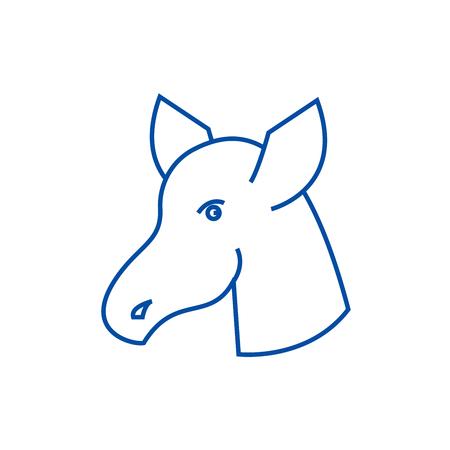 Hoss doctor line concept icon. Hoss doctor flat  vector website sign, outline symbol, illustration.