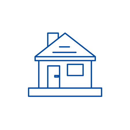 House,home repair line concept icon. House,home repair flat  vector website sign, outline symbol, illustration.