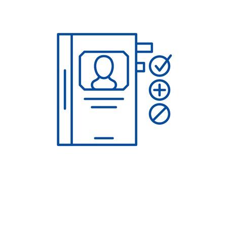 Human resource development line concept icon. Human resource development flat  vector website sign, outline symbol, illustration.