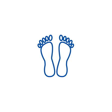 Heels,pedicure line concept icon. Heels,pedicure flat  vector website sign, outline symbol, illustration. Foto de archivo - 119714445