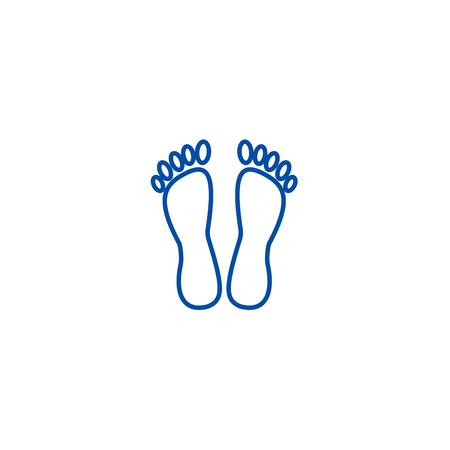 Heels,pedicure line concept icon. Heels,pedicure flat  vector website sign, outline symbol, illustration.