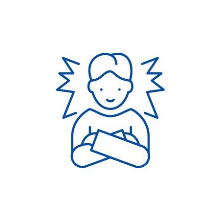 Symbol für das Konzept der idealen Mitarbeiterlinie. Ideales flaches Vektor-Website-Zeichen für Mitarbeiter, Umrisssymbol, Illustration.