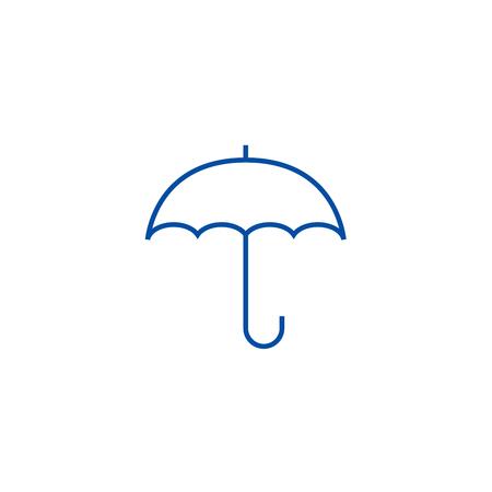 Insurance, umbrella line concept icon. Insurance, umbrella flat  vector website sign, outline symbol, illustration. Illustration