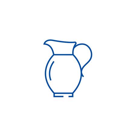 Jar line concept icon. Jar flat  vector website sign, outline symbol, illustration. Illustration