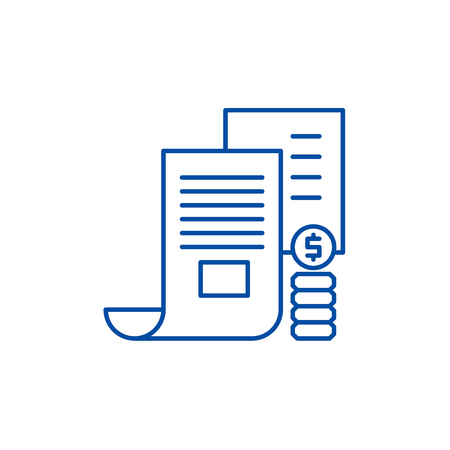 Investor memorandum line concept icon. Investor memorandum flat  vector website sign, outline symbol, illustration.